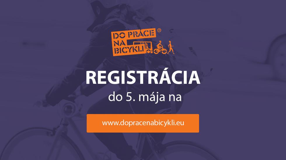 Do súťaže Do práce na bicykli sa môžete prihlásiť až do 5. mája