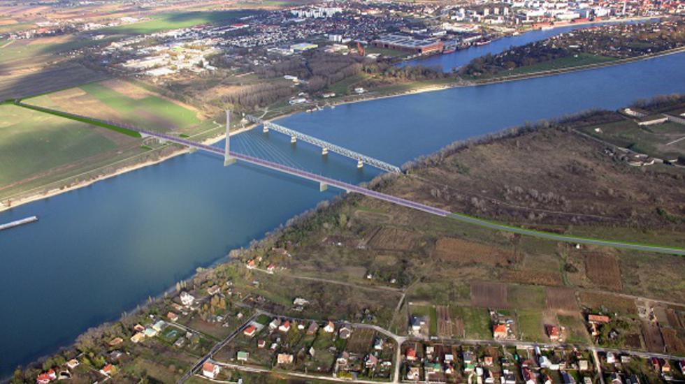Most v Komárne bude najvyšším na Dunaji
